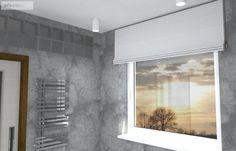 Okno v koupelně lze zakrýt textilní římskou roletou Bathtub, Bathroom, Projects, Standing Bath, Washroom, Log Projects, Bathtubs, Blue Prints, Bath Tube