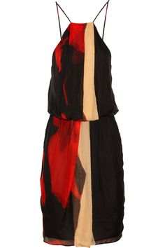 Printed silk-chiffon dress by Robert Rodriguez