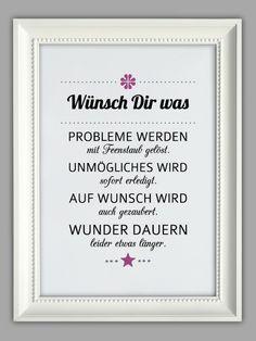 """""""WÜNSCH DIR WAS"""" Kunstdruck von Smart-Art Kunstdrucke auf DaWanda.com"""