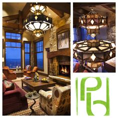 Paula Berg Design Associates | Statement #Chandelier #lighting #interiordesign #mountain #rustic #parkcity #deervalley #homedecor #familyroom  http://paulabergdesign.com/