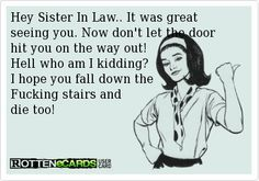 Sister In Law Bitch Google Search Quotes Funny Ecards Lol