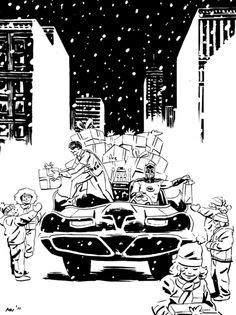 #Batman #And #Robin #Fan #Art. (Batman and Robin Christmas) By: Ryan Bullard. (THE * 5 * STÅR * ÅWARD * OF: * AW YEAH, IT'S MAJOR ÅWESOMENESS!!!™) ÅÅÅ+