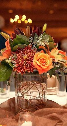 Beautiful fall arrangement