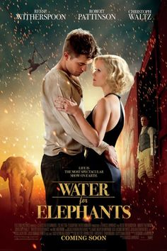 Water Elephants (2011) A veterinary student abandons his studies after his parents are killed and joins a traveling circus as their vet. Robert Pattinson, Reese Witherspoon, Christoph Waltz...17a