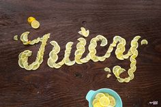 Food Typography by American graphic designer Danielle Evans Food Typography, Typography Images, Creative Typography, Typography Letters, Graphic Design Typography, Summer Typography, Graphic Posters, Art Inspo, Danielle Evans