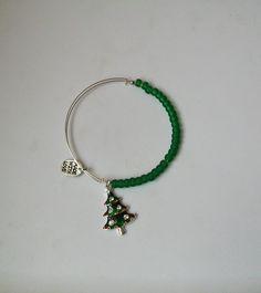 Christmas tree bangle $10