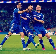 Costa, Terry and Cahill. Chelsea vs Spurs. Capital One Cup Final March 1 2015