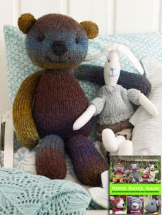 Knitting Patterns Free Dog, Free Baby Blanket Patterns, Baby Boy Knitting, Easy Knitting Projects, Knitted Animals, Knitted Baby Blankets, Cute Teddy Bears, Ravelry, Softies