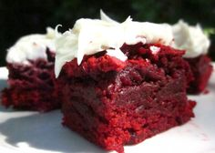 The Realtor's Red Velvet Brownies With White Chocolate Icing