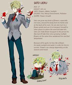 Sato - flower growth My Hero Academia Memes, Buko No Hero Academia, Hero Academia Characters, Anime Oc, Anime Guys, My Character, Character Concept, Haikyuu, Superhero Characters