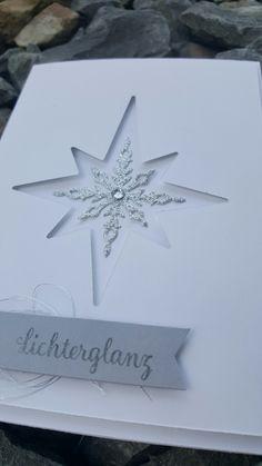 Stampin up Weihnachtskarte mit Stern