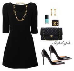 """""""Sunday Best !!!"""" by stylesbypdc ❤ liked on Polyvore featuring Chanel, Dolce&Gabbana and Christian Louboutin"""