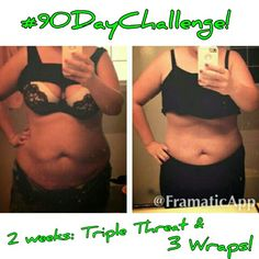 After a crazy day, there's nothing like getting THIS⬇ in your inbox! One of my friends, also my Loyal Customer, thought she wasn't seeing results. Then she put a current pic next to her before pic. We're so excited! And she still has 9 wraps left!