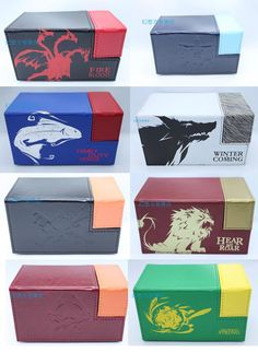 game of thrones house symbol board game cards box case containers game card for mtg cards magical ,the gatherings Yu-Gi-Oh cards #Affiliate