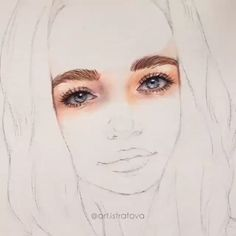 As an artist, I sell all my works. Watercolor Portrait Tutorial, Watercolor Portrait Painting, Watercolor Art Face, Watercolor Landscape, Painting Art, Watercolor Flowers, Abstract Paintings, Watercolor Artists, Indian Paintings
