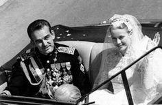 Le mariage de Grace Kelly et Rainier ©Sipa - Mariage Princier : Mariage Grace Kelly et Prince Rainier