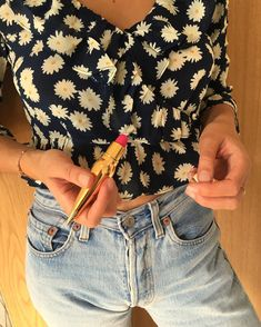 Golden accessory @louboutinworld #redlip French Beauty, Red Lips, Lip Colors, Summer Outfits, Summer Clothes, Girl Hairstyles, Denim Skirt, Floral Tops, Beauty Hacks