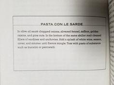 23. Pasta Con Le Sarde