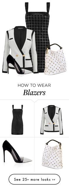 I love the dress on this pin but not the blazer. i'd have to pair it with something else for work, maybe a pullover? cute party dress without a sweater