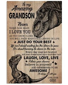 Shop for unique Grandson apparel and homegoods on CoolGrandmaStore. Find the perfect Grandson t-shirts, mugs, posters, phone cases, and more. Grandson Quotes, Quotes About Grandchildren, Nana Quotes, Mommy Quotes, Sign Quotes, Family Quotes, My Children Quotes, Quotes For Kids, Great Quotes