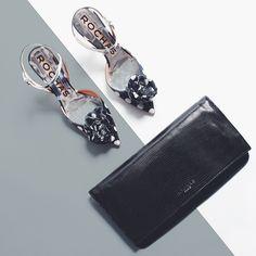 Black or White? Зачем выбирать? Противоположности притягиваются в луке от французского люксового бренда ROCHAS! #black #white #polkadot #rochas