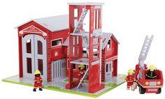 Bigjigs Toys Drevený set hasiči | MALL.SK