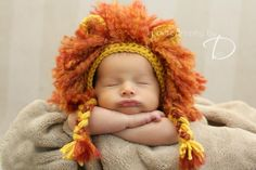 Lion Mane Bonnet by Bowtykes   Crocheting Pattern - Looking for your next project? You're going to love Lion Mane Bonnet by designer Bowtykes. - via @Craftsy