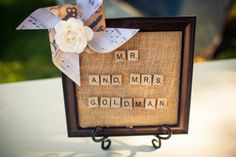 Scrabble Letters Used At Wedding