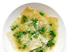 Pea and Fresh Mint Ravioli