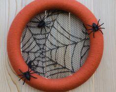 Halloween Wreath Spider Wreath Halloween von HeartOfHomeDesign