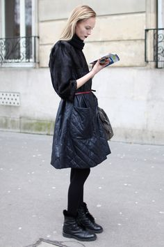 Super chic en color negro #moda #estilo