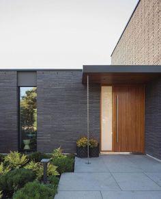 "Johan Sundberg Arkitektur on Instagram: ""Villa Tennisvägen. 2018. Ljunghusen, Sweden."" Dezeen, Water Pipes, Amazing Architecture, Villa, Garage Doors, Home Kitchens, Sweden, Brick, New Homes"