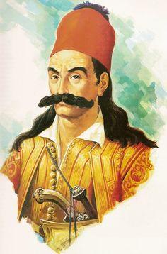 Costume Ethnique, Greece History, Greek Warrior, Eastern Europe, Worship, Revolution, Hero, Adventure, Painting