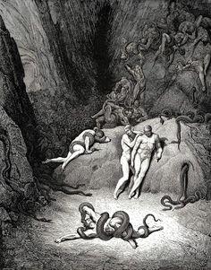 Agnolo Brunelleschi se metamorfosea tras el abrazo y la mordedura de una serpiente