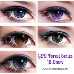 Available in 6 captivating and opaque shades, GEO Forest color contacts are designed to give your eyes an incredibly glossy shimmer. Your bigger, stunning eyes will render everyone speechless! Buy these authentic circle lenses now with Free Shipping to USA, Canada and Worldwide from EyeCandy's!
