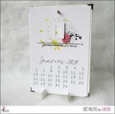 """Fati : Tampons & matrices de coupe (dies) #4enscrap """"Meilleurs voeux"""" Avant Premiere, Deco, Calendar, Bullet Journal, Tampons, Four, Inspiration, Scrapbooking, Calendar Pages"""