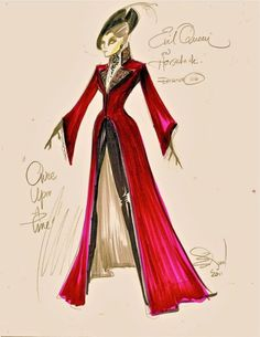 Princess Isabella wears a trailing riding jacket like this in Madison Lane and the Wand of Rasputin. (One of the original costume sketch for the Evil Queen played by Lana Parrilla on 'Once Upon a Time') http://www.amazon.com/dp/B00K1Q6ZN4/ellepins-20