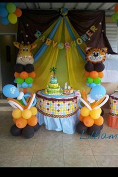 Safari Baby Shower Decor | Jungle Theme Baby Shower Ideas | Pinterest |  Babies, Babyshower And Baby Shower Themes