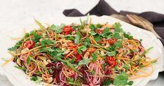 Japchae, Pesto, Salads, Veggies, Healthy Recipes, Healthy Food, Ethnic Recipes, Corner, Beautiful