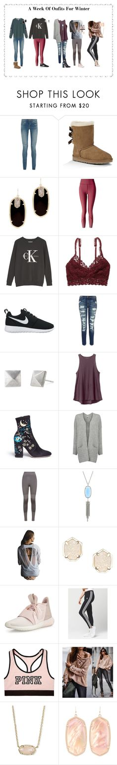 """""""Untitled #408"""" by dauntless-darling ❤ liked on Polyvore featuring Yves Saint Laurent, Victoria's Secret, UGG Australia, Kendra Scott, lululemon, Calvin Klein, American Eagle Outfitters, NIKE, Current/Elliott and Stella & Dot"""