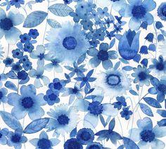 Delft Blue Floral.