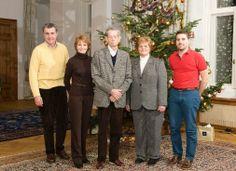 Noblesse & Royautés:  Romanian Royal Family, Christmas 2013-Prince Radu, Princess Margarita, King Michael, Princess Elena and her son Prince Nicholas