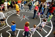 FUN FEST: The cake walk game, like musical chairs, was a big hit with kids of all ages.