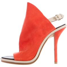 Pre-owned Balenciaga Suede Glove Sandals (€230) ❤ liked on Polyvore featuring shoes, sandals, orange, ankle tie sandals, suede sandals, ankle strap shoes, orange suede shoes and ankle wrap sandals