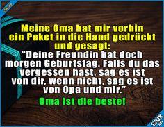 Omis sind einfach toll! ^^ #Omiistdiebeste #Humor #Geburtstag #Sprüche #lustigeSprüche #lachen #SpruchdesTages