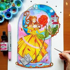 La Belle et la Bete I love the new Disney Beauty & the Beast movie ♡ 《>~< And it's time to show you the next Princess in the Bott. Beauty and the Beast Arte Disney, Disney Fan Art, Disney Magic, Disney And More, Disney Love, Disney Drawings, Art Drawings, Princesa Disney Bella, Character Illustration