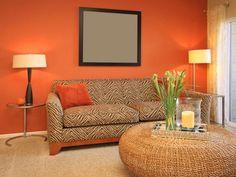 Contoh Wallpaper Dinding Ruang Tamu Minimalis Desainrumahnya Com Orange Caramel Pinterest Interiors Living Rooms And Room