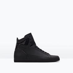 COMBINED HIGH-TOP SNEAKER-Sneakers-Shoes-MAN | ZARA United States