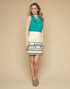 Tropicana Embroidered Skirt