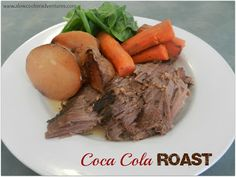 Who knew a can of soda could make for a delicious and flavorful roast?! Give this slow cooked Coca Cola Roast recipe a try. #CrockPot #SlowCooker #recipe